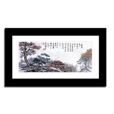 Mountain Village by Lin Hung Tsung Framed Painting Print