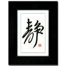 Serenity by Bingsyin Ye Framed Textual Art
