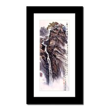 Mountain Top Falls by Lin Hung Tsung Framed Painting Print