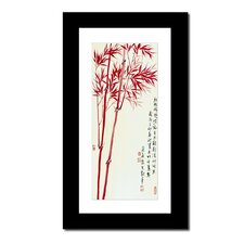 <strong>Oriental Design Gallery</strong> Red Bamboo by Lin Hung Tsung Wall Art