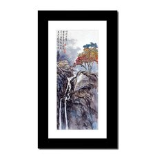 Waterfall and Blossoms by Lin Hung Tsung Framed Graphic Art