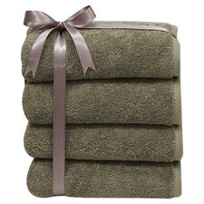 <strong>Linum Home Textiles</strong> Soft Twist 100% Turkish Cotton Hand Towel (Set of 4)