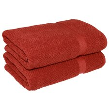 Herringbone Weave Bath Towel (Set of 2)