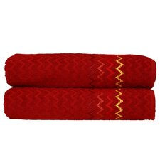 "Montauk ""Zig Zag"" Bath Towel (Set of 2)"