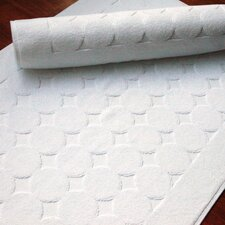 100% Turkish Cotton Circle Design Bath Mats (Set of 2)