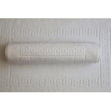 Luxury Hotel and Spa 100% Turkish Cotton Greek Key Bath Mats (Set of 2)