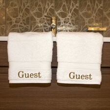 <strong>Linum Home Textiles</strong> Luxury Hotel & Spa Personalized Hand Towels (Set of 2)