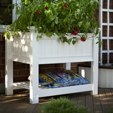 <strong>New England Arbors</strong> Cambridge Raised Planter in White