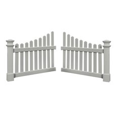 Cottage Picket Wings in White (Set of 2)