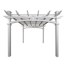<strong>New England Arbors</strong> Venetian Pergola in White