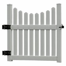 Cottage Picket Gate in White