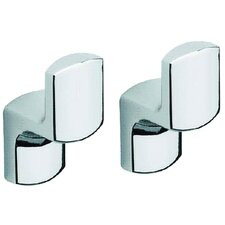 <strong>Moda Collection</strong> Movin Robe Hook in Chrome (Set of 2)