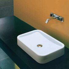 East Vessel Bathroom Sink without Overflow
