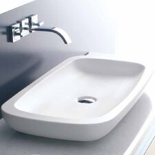 Scultara Rectangular Vessel Bathroom Sink