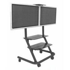 Dual Display Video Conferencing Cart