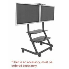 Dual Display Video Conferencing Cart