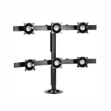 6 Screen Grommet Monitor Desk Stand