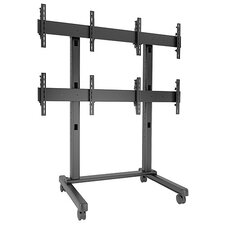 Fusion Micro-Adjustable Freestanding 4 Screen Video Wall Cart