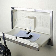 Stainless Steel Horizontal Baby Changing Station with Recess Mount