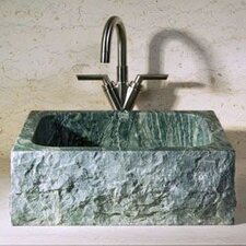 Rectangular Vessel Bathroom Sink with Broken Edge