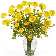 Liquid Illusion Silk Ranunculus Arrangement in Yellow