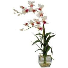Silk Dendobrium Arrangement with Vase