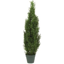 <strong>Nearly Natural</strong> Cedar Tree Round Tapered Topiary in Pot