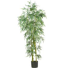 "72"" Fancy Style Slim Silk Bamboo Tree in Green"