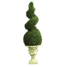 <strong>Nearly Natural</strong> Cedar Spiral Topiary in Urn