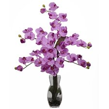 <strong>Nearly Natural</strong> Phalaenopsis with Vase Silk Flower Arrangement in Mauve