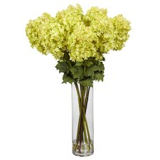 <strong>Nearly Natural</strong> Giant Hydrangea Silk Flower Arrangement