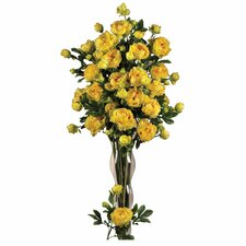 "<strong>Nearly Natural</strong> 38.5"" Peony with Leaves Stem in Yellow (Set of 12)"