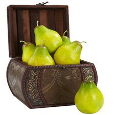 Faux Pear Figurine (Set of 6)