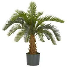 <strong>Nearly Natural</strong> Cycas Silk Floor Plant in Pot