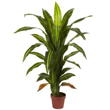 <strong>Nearly Natural</strong> Dracaena Silk Floor Plant in Pot