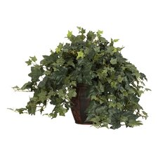<strong>Nearly Natural</strong> Puff Ivy Desk Top Plant in Basket