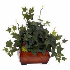 <strong>Nearly Natural</strong> Puff Ivy Desk Top Plant in Chest