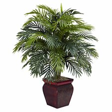 <strong>Nearly Natural</strong> Areca Floor Plant in Decorative Pot