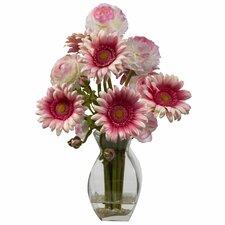 Gerber Daisy and Ranunculus Delight  Arrangement