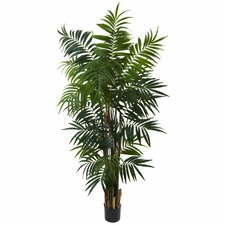 Nearly Natural Bulb Areca Palm Tree in Pot