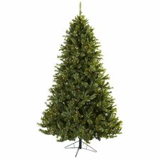 Nearly Natural 7.5' Green Majestic Multi-Pine Artificial Christmas Tree with 650 Clear Light with Stand