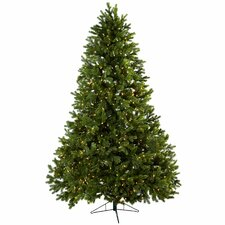 Nearly Natural 7.5' Green Royal Grand Artificial Christmas Tree with 800 Clear Lights with Stand