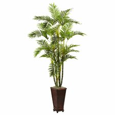 Nearly Natural Areca Floor Plant in Planter