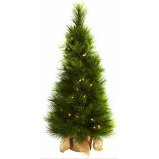 Nearly Natural 3' Green Artificial Christmas Tree with 50 Clear Lights with Bag