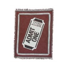 Bass Theatrical Ticket Cotton Throw Blanket