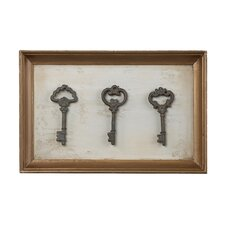 Framed Antique Reproduction Keys Framed Photographic Print Plaque