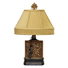 "Carved Block 22"" H Table Lamp with Empire Shade"