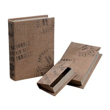 <strong>Sterling Industries</strong> 3 Piece Linen Wrapped Storage Box Set