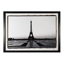 Custom Eiffel Tower At Dawn Framed Photographic Print