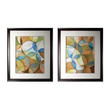 Circulate 2 Piece Framed Graphic Art Set